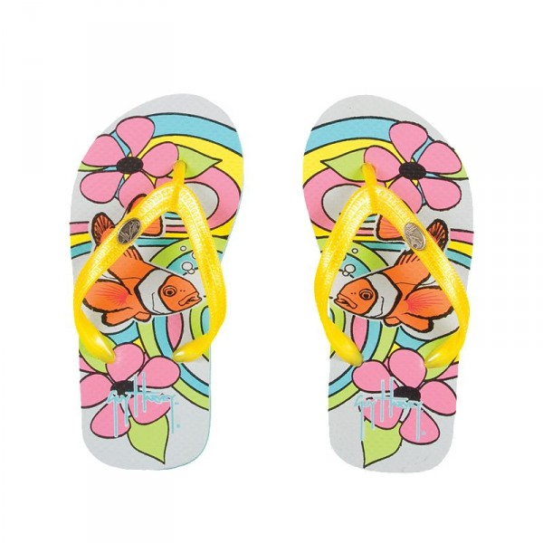 Guy Harvey Psychedelic Clown Button Youth Sandals