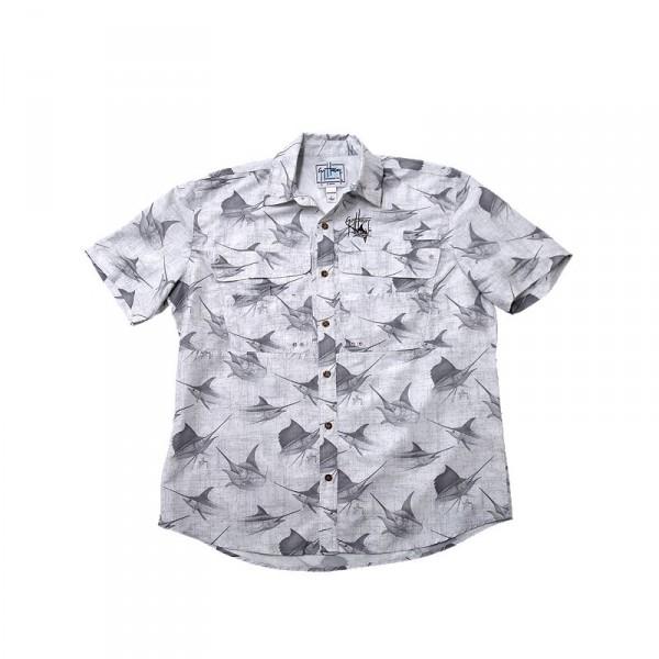 Guy Harvey Billfish Rain Tech Travel Buttondown Shirt
