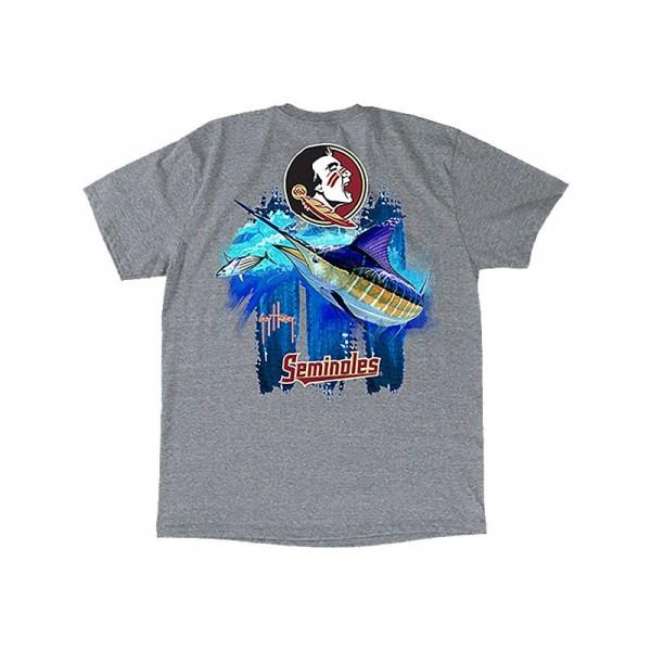Guy Harvey Collegiate Triple Threat Seminoles T-Shirt