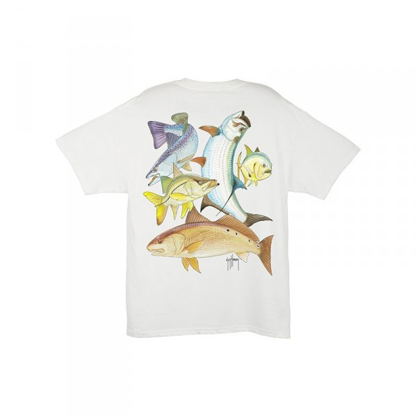 Guy Harvey Inshore Collage T-Shirt