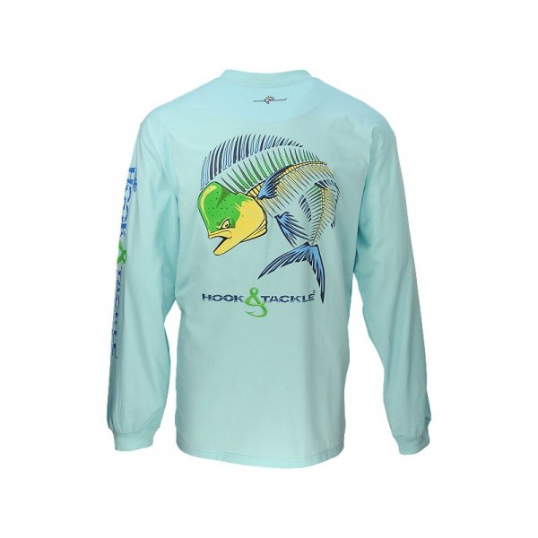 Hook & Tackle Dolphin Action X-Ray Solar System Long Sleeve Shirt