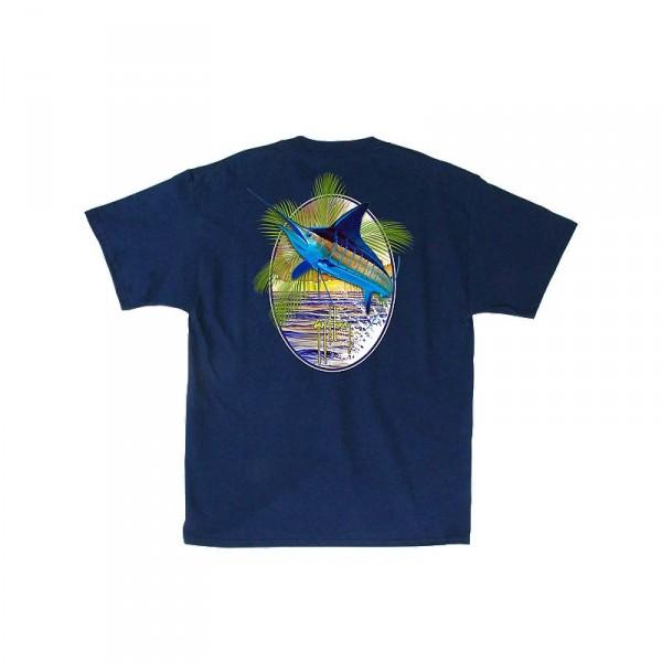 Guy Harvey Sunset Palms T-Shirt