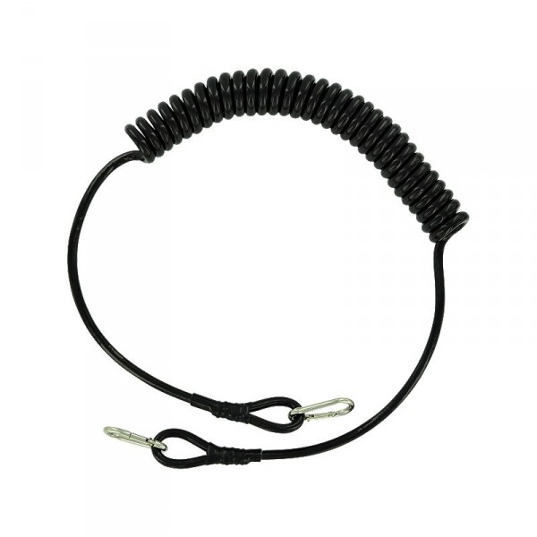 Coiled Safety Line with Stainless Clips