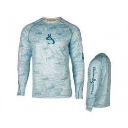 Hook & Tackle Marlin Thrill Wicked Dry & Cool Long Sleeve Shirt