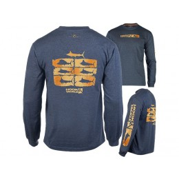 Hook & Tackle Billfish Collage Solar System Long Sleeve Shirt