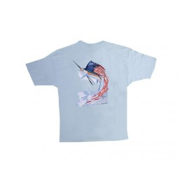 Guy Harvey Star Spangled Guy Ladies T-Shirt