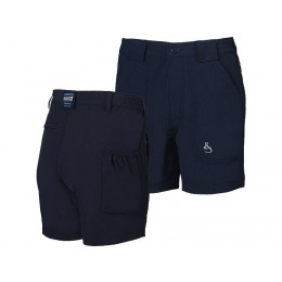 "Hook & Tackle ""Original"" BeerCan Island 4-Way Stretch Shorts - Navy Blue"