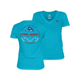 Pelagic Women's Americamo V-Neck T-Shirt